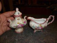 Ancienne Dinette de Poupée en Porcelaine Sauciere soupiere Vintage Dish Doll