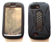 ZTE Z665C Valet N850 N850L Director Case With BUILT IN SCREEN PROTECTOR BLK/BLK