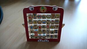 Buchstabentafel - Anlaute - Zahlentafel aus Holz