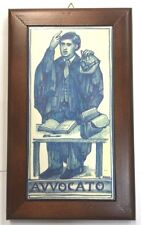 Sicilian Pottery-10x6 Inch Tile Avvocato(lawyer).Made/Painted by hand in Italy