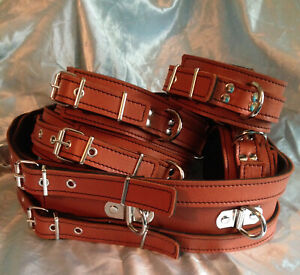 Handmade English Leather Utility Belt With Wrist & Ankle cuffs.