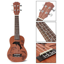 "21"" Wood Soprano Ukulele Uke Sapele 15 Frets Concert Musical Hawaiian Guitar US"