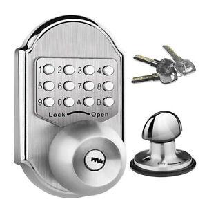 Elemake Keyless Deadbolt Door Lock Keypad Digital Pass Code Mechanical Door Knob