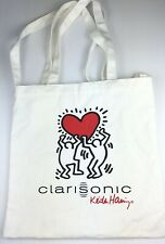 Keith Haring Tote Bag Clarisonic Love Heart Print