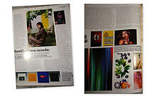 Vintage clippings Peter Saville French Vogue Paris 2003 interview design