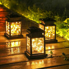 More details for waterproof led solar powered hanging lantern lights outdoor garden table lamp