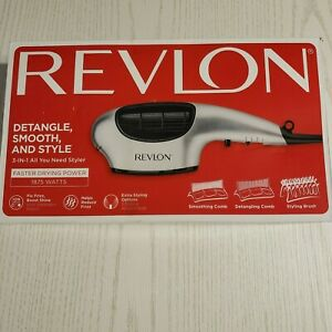 Revlon 3 in 1 Multi Styling Hair Dryer with 3 Attachments Silver New in Box