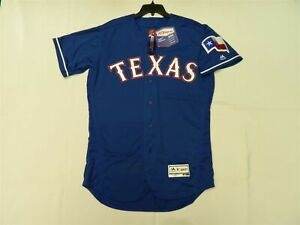 AUTHENTIC 54 3XL TEXAS RANGERS MAJESTIC FLEX BASE JERSEY MADE IN THE USA!