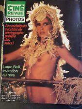 @  VINTAGE REVUE CINE REVUE LAURA BELLI SEXY  EROTIQUE  NU no lui playboy