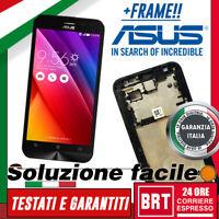 DISPLAY LCD+TOUCH SCREEN+FRAME ASUS ZENFONE 2 LASER ZE500KL Z00ED VETRO SCHERMO!