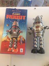 2014 HA HA Toys Chrome MECHANICAL PLANET ROBOT MS430 Man Windup Tin Toy Space