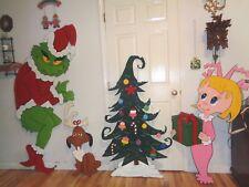 NEW  GRINCH & MAX, CINDY LOU AND TREE CHRISTMAS  DECOR.YARD ART