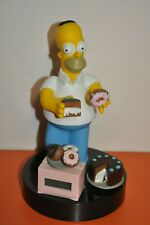 """The SIMPSONS- HOMER SIMPSON 1998 WESCO ALARM CLOCK=""""CAKE or DONUT? WORKS GREAT!!"""