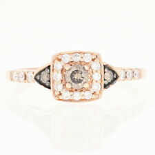Le Vian Diamond Halo Ring - 14k Rose Gold Engagement Round Brilliant .50ctw