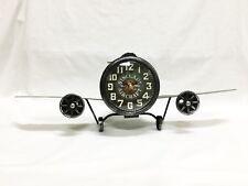 Metal Airplane Shaped Clock