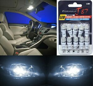 LED 5050 Light White 5000K 194 Ten Bulbs License Plate Tag Upgrade Lamp SMD JDM