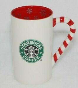 Candy Cane Handle Starbucks  Ceramic Coffee Cup Mug  Holiday Christmas 2009