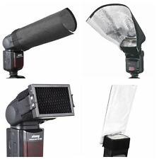 3in1 Universal Foldable Flash Snoot Beam Reflector Diffuser Bender Honeycomb Kit