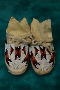Native American Beaded Moccasins Infant/Doll from THE PEOPLE OF THE PLATEAU