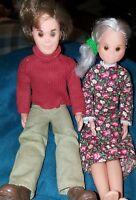 Vintage 1973 Mattel SUNSHINE FAMILY 2 DOLLS Mom Stephie Dad Steve