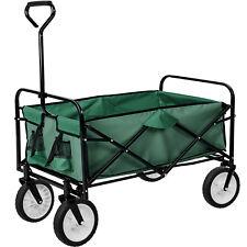 Carrello a mano giardino carretto pieghevole rimorchio di trasporto carichi verd