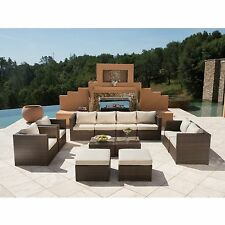 SUPERNOVA 12pc Outdoor Patio Furniture Wicker Rattan Couch Sectional Sofa Set