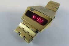 Estate VERY RARE VINTAGE ADVANCE MODULUS DRIVERS LED WATCH- 1976 WORKING