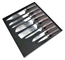 8 tlg. Messerset KOCHKNIFE© im Damaskus Style Küchenmesser Damast Messerblock
