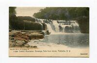Postcard - Prattsville NY Devasego Falls Catskills 1910 Handcolored UDB Germany