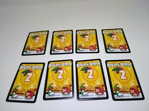 All 8 Yellow Mission Cards from Angry Birds Happy Holidays! Game 2012 Limited