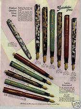 1930 PAPER AD 4 PG Grieshaber Fountain Pen COLOR Pencil Sets Transparo