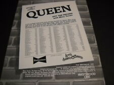 Queen Off The Record .the elusive Freddie Mercury vintage Promo Poster Ad mint