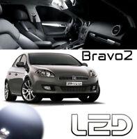 Fiat BRAVO 2 Kit 4 Ampoules LED Blanc éclairage intérieur Plafonnier Habitacle