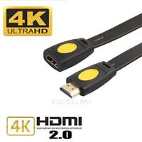HDMI 2.0 Male to Female Extension Cable For LED 3D HDTV 4K x 2K Extend Cord