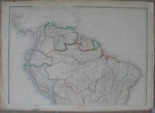 1863 Three Large Antique Maps - BRAZIL & NORTHERN SOUTH AMERICA, Dispatch Atlas