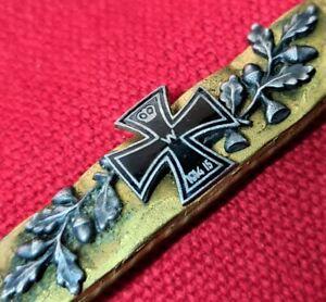 *VINTAGE RARE WW1 GERMANY TRENCH ART GOLD DONATION CIVILIAN PIN BADGE