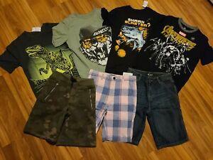 NWT BOYS' CLOTHES LOT ~SIZE 8, 7/8~  SUMMER /FALL TShirts Shorts Lot New