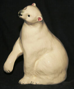 Vintage Devon Polar Bear Statuette - Babbacombe Pottery