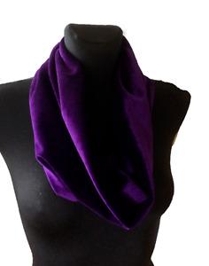 handmade cowl, snood, neck warmer, scarf, velvet - deep purple