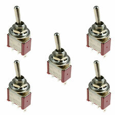 5pcs New On/On Mini Small Toggle Switch Car Dash Dashboard SPST 12V
