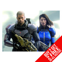 MASS EFFECT 3 XBOX PS3 GIANT WALL ART PICTURE PRINT POSTER G64