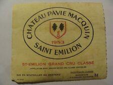 Etiquette - Château PAVIE MACQUIN - 1983 - St Emilion - Grand Cru Classé - (E4)