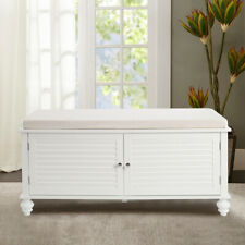Large Shoes Storage Cabinet Bench Stool Ottoman Chest BedEnd Window Seat Hallway