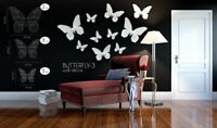 BUTTERFLIES set 3 mold 3D Decorative Wall Stone Panel Form Plastic for Plaster