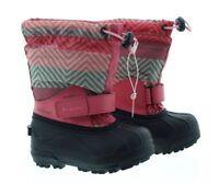 Columbia Girls' Powderbug Forty Print Waterproof Snow Boots, Wild Salmon, 9