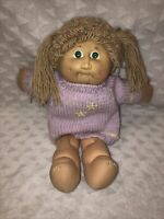 Vintage 1978-1982 Cabbage Patch Kids Girl Doll with Brown Hair & Pony Tail