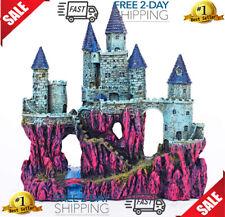 "Miracliy Castle Aquarium Decorations Large Fish Tank Ornament Super Castle 10"""