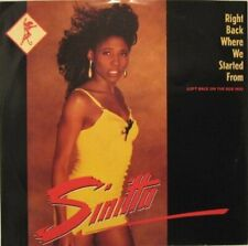"""Sinitta Right back where we started from (1989)  [Maxi 12""""]"""
