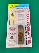 NEW ORIGINAL ULTIMATE TIP TOOL - BRONZE ULTI-MATE POOL CUE TIP SHAPER SCUFFER