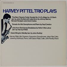 HARVEY PITTEL TRIO: Plays Alto Saxophone Creston Villa-Lobos CRYSTAL Rare LP